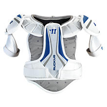 Ruckus Shoulder Pad, White with Blue & Grey