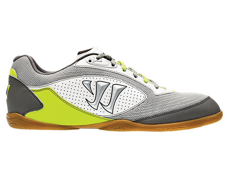 Thrust Futsal, White with Lime & Steel Grey