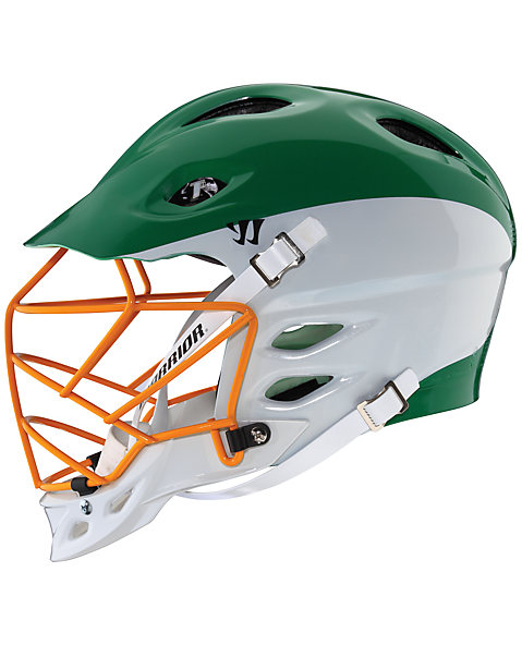 TII Custom Painted Helmet, Green with White & Orange