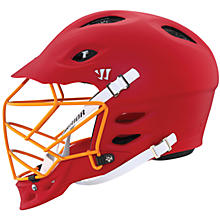 TII Custom Painted Helmet, Red with Orange