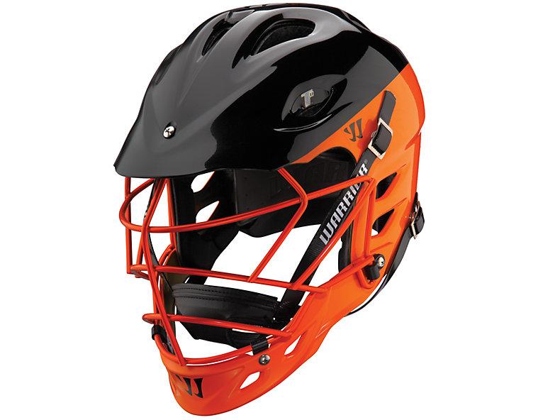 TII Custom Painted Helmet, Black with Orange
