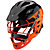 TII Custom Painted Helmet, Black with Orange