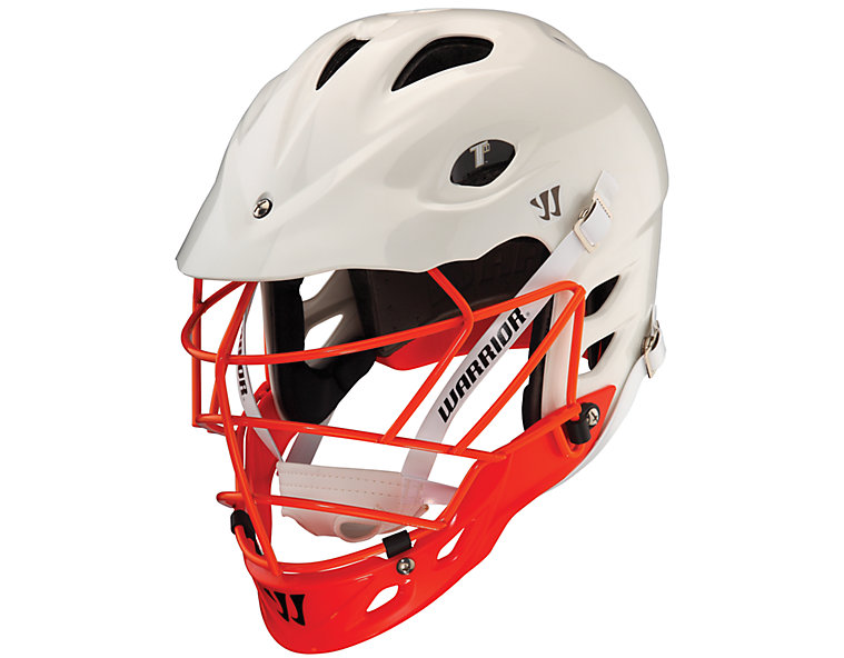 TII Custom Painted Helmet, White with Red