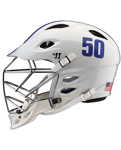 TII Custom Painted Helmet, White with Blue