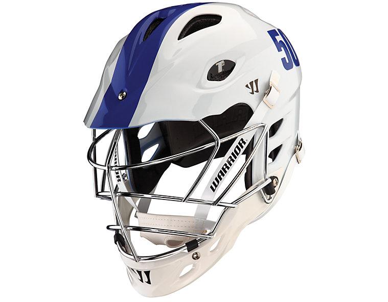 TII Custom Painted Helmet, White with Blue