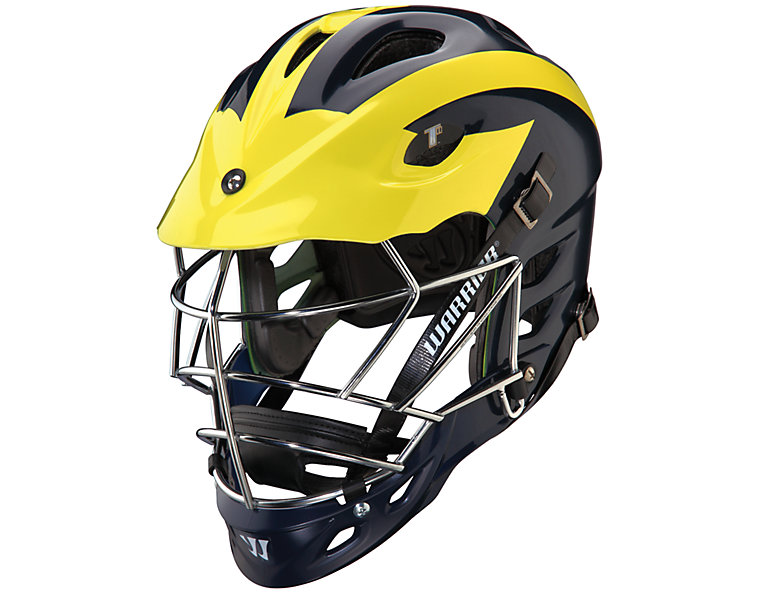 TII Custom Painted Helmet, Blue with Yellow