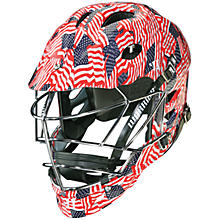 TII Custom Hydrographic Helmet, Red with White & Blue
