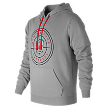 NB Lacrosse Hoodie , Alloy with Red