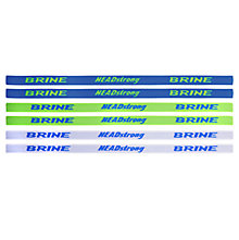 Women's Headbands, Neon Green with Blue & White