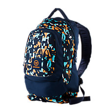 Large Skreamer Backpack, Blue with Blue & Orange
