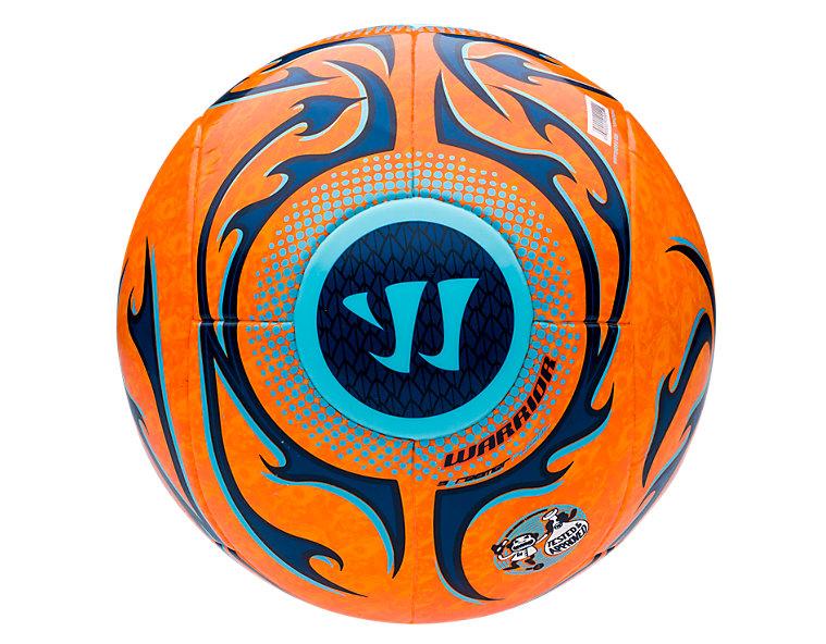Skreamer Futsal Ball, Bright Marigold with Blue Radiance & Insignia Blue