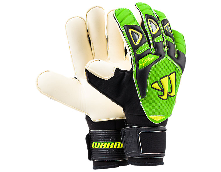 Gambler Pro Bone System Goalkeeper Glove, Black with Jazz Green & Hi Viz Yellow