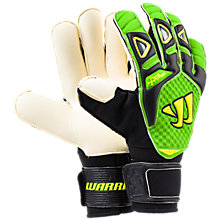 Gambler Pro Bone System Goalkeeper Glove, Black with Jazz Green & High Visibility Yellow