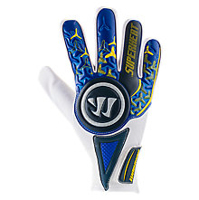 Superheat Combat Goalkeeper Glove, Blue with Aviator & Cyber Yellow