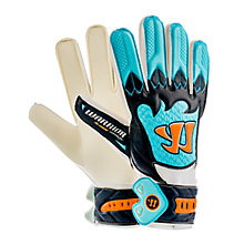 Skreamer Combat Junior Goalkeeper Gloves, White with Blue & Blue