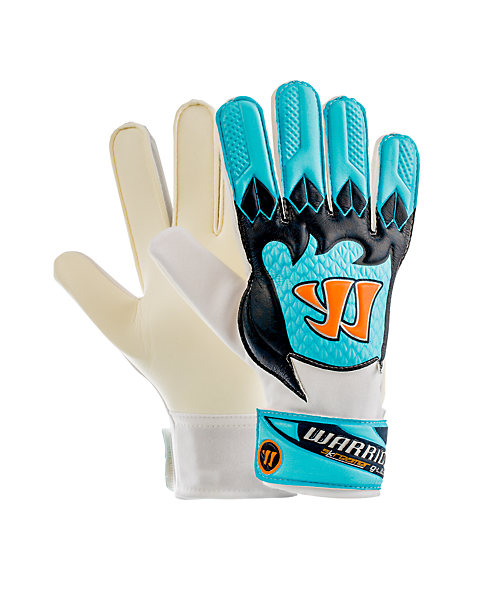 Skreamer G-Lite Junior Goalkeeper Gloves, White with Blue Radiance & Insignia Blue
