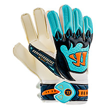 Skreamer Pro Junior Goalkeeper Gloves, White with Blue & Blue