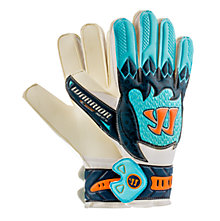 Skreamer Sentry Goalkeeper Gloves, White with Blue & Blue