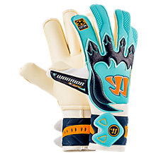 Skreamer AQ Roll Goalkeeper Gloves, White with Blue & Blue