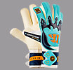 Skreamer AQ Roll Goalkeeper Gloves, White with Blue Radiance & Insignia Blue
