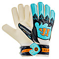 Skreamer Sentry Junior Goalkeeper Gloves, White with Blue Radiance & Insignia Blue