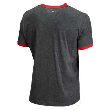 50/50 Tab Tee, Black Heather