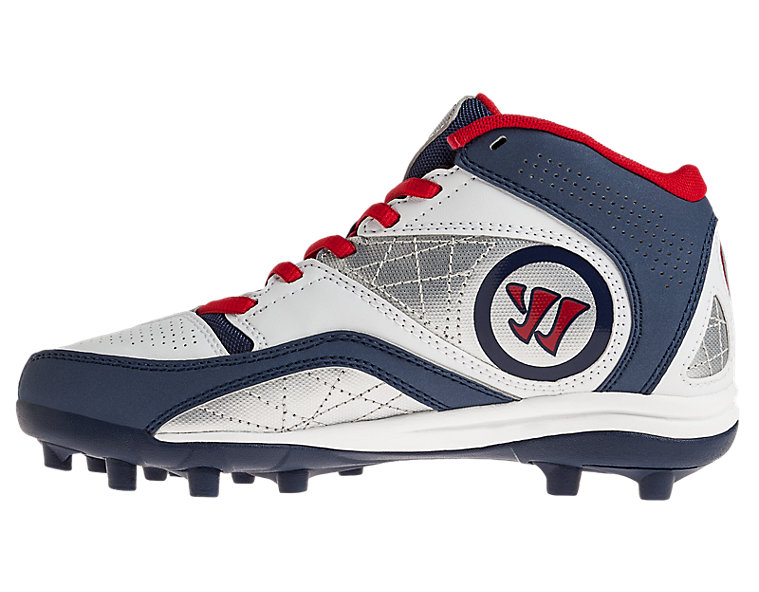 Youth Vex 2.0 Cleat - Rabil Edition, Blue with Red