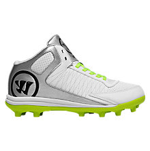 Vex 3.0 Youth Cleat, White with Toxic & Silver