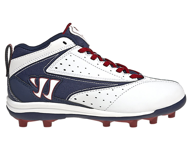 Youth Vex Cleat - Rabil Edition, White with Blue & Red