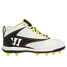 Youth Vex Cleat, White with Black & Yellow