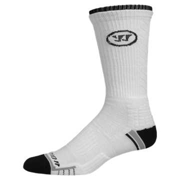 Warrior Crew Sock, White with Black