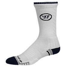 Warrior Crew Sock, White with Navy