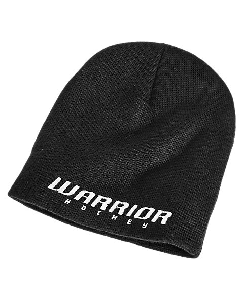 Youth Hockey Beanie, Black with White