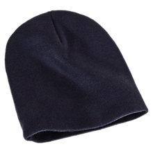 Youth Hockey Beanie, Navy with White