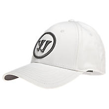 Youth Logo Flex Cap, White with Grey