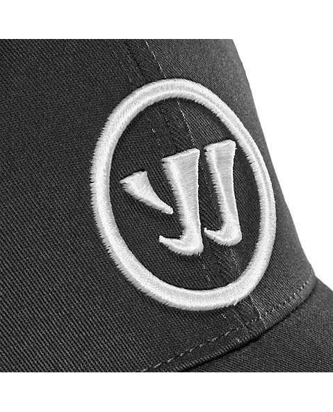 Logo Flex Cap, Charcoal with White