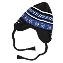 Lodge Beanie, Navy with Blue & White