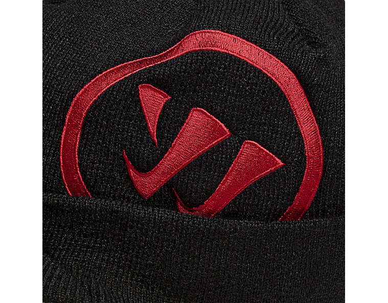 Radar Beanie, Black with Red