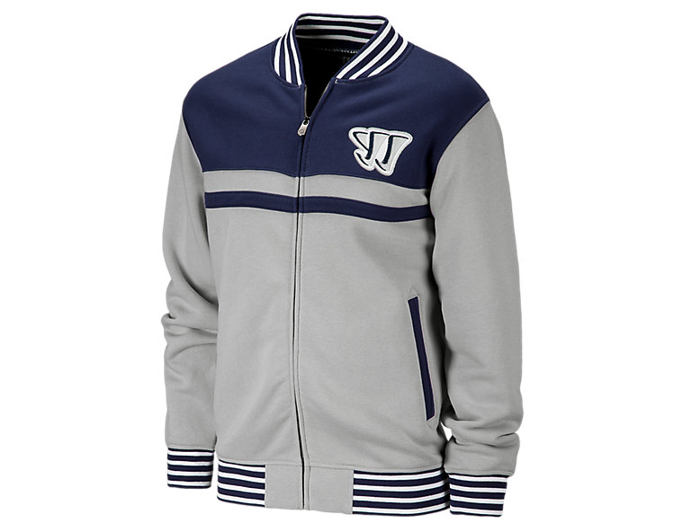 Jock FZ Crew, Grey with Navy