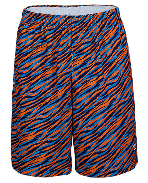 Youth Brobaz Short, Blue with Orange