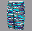 Youth Hawaiian Short, Blue Atoll