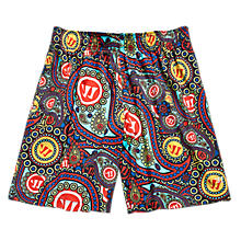 Woodstock Short, Red with Blue & Orange