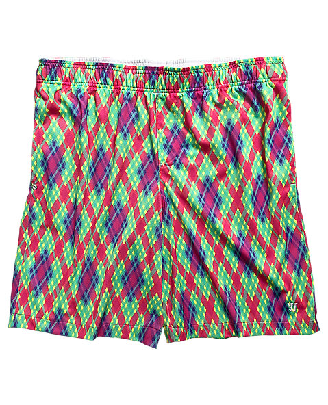 BBQ Short, Red with Blue & Yellow