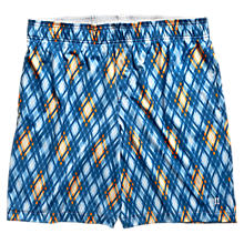 BBQ Short, Navy with Orange
