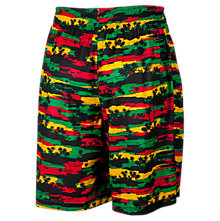 Hawaiian Short, Black with Red & Green