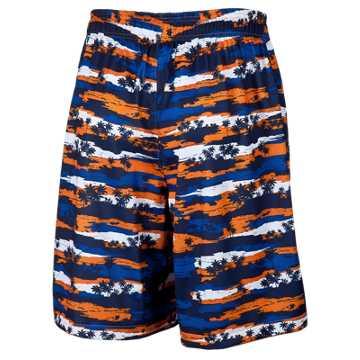 Hawaiian Short, Blue with Orange