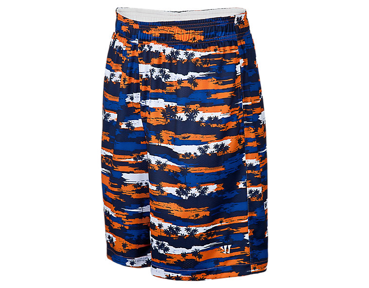 Hawaiian Short, Blue with Orange