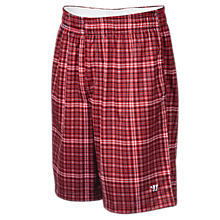 Houndsplaid Short, Red with White