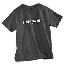 Youth Hockey Logo Tee, Charcoal Grey with White