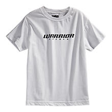 Youth Hockey Logo Tee, White with Black